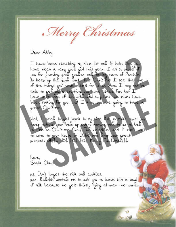 handwritten letters from santa claus authentic north pole postmark